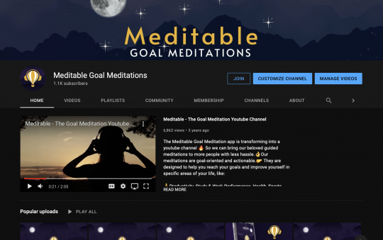 Meditable Guided Meditation Youtube Channel